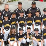 The Prospect Little League 9- and 10-year-old baseball all-star team, front row from left, John Detullio, Cody Wilmot, Austin Bedard, Caleb Shirk, Jason Searles, and Justin Miller. Second row from left, Nick Delucia, Matthew Belcher, Jason Claiborn, Colby Linnell, Jason Blanc, Vinny Denze, and Joe Shea. Back row, from left, coach and manager Darren Bedard, coaches Greg Miller and Jason Claiborn. -CONTRIBUTED