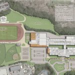 This artistic rendering shows the plans to renovate Naugatuck High School. –CONTRIBUTED