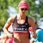 Cassie Maximenko, of Naugatuck, competes in the USAT Age Group Nationals last year in Burlington, Vt. Maximenko first got involved in triathlons as a senior at Naugatuck High School and over the years, the 29-year-old chiropractor has won multiple titles. –CONTRIBUTED