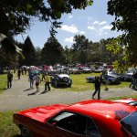 Throngs of people check out cars during the 26th annual Sock Hop and Car Show on the Prospect Green last year.  This year's event, which is organized by the Office of the Mayor and Prospect Car Owner's Association, will be held Sunday. –RA ARCHIVE