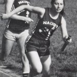 This year book photo shows Dawn (Lafferty) Hochsprung, a member of Naugatuck High School's Class of 1983, running track. Hochsprung was captain of the girls track team her senior year.  -CONTRIBUTED