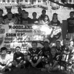 Members of the Woodland JR Hawks football and cheer program. –CONTRIBUTED