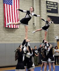 The 9th Annual Woodland Hawks Cheer Invitational will be held Feb. 8 at the high school. –FILE PHOTO