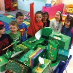 Children at Tender Years Preschool in Naugatuck set 'leprechaun traps' on St. Patrick's Day to try and catch a leprechaun. –CONTRIBUTED