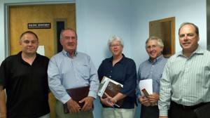 Members of the Prospect Economic Development Commission, from left, Dr. Ron Laone, Peter Hughes, Eileen Cranney, Larry Rifkin and Mark Graveline. The commission has recently been revived as the town looks to attract more businesses. –RA ARCHIVE