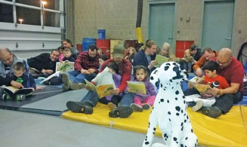 Naugatuck Firefighter Local 1219 Union sponsored the 21st annual Night at the Firehouse with the Naugatuck Head Start program Nov. 17 at the Maple Street firehouse. –CONTRIBUTED