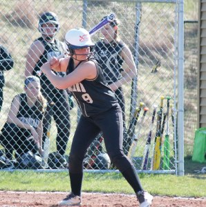 Former Woodland captain Cameron Caswell is among a number of local softball players that play travel ball over the summer to sharpen their skills. Caswell played this summer for the Xtreme Chaos and will play at Rensselaer Polytechnic Institute in Troy, N.Y. –FILE PHOTO