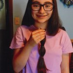 Faith Arcuri, an eighth-grader at City Hill Middle School in Naugatuck, recently donated her hair to Wigs 4 Kids. –CONTRIBUTED