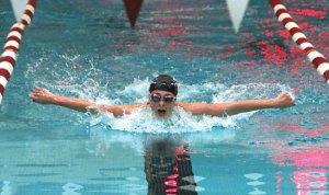 Naugatuck's Molly Kennelly competes in the 200 individual medley against Torrington Sept. 16 at Naugatuck High School. Naugatuck won the meet, 96-82. –LUKE MARSHALL