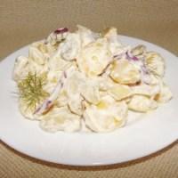 Картофена салата с дресинг от майонеза и горчица