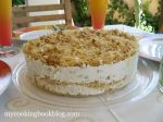 Торта с Кадайф, Мед, Орехи и Извара с Портокалов аромат