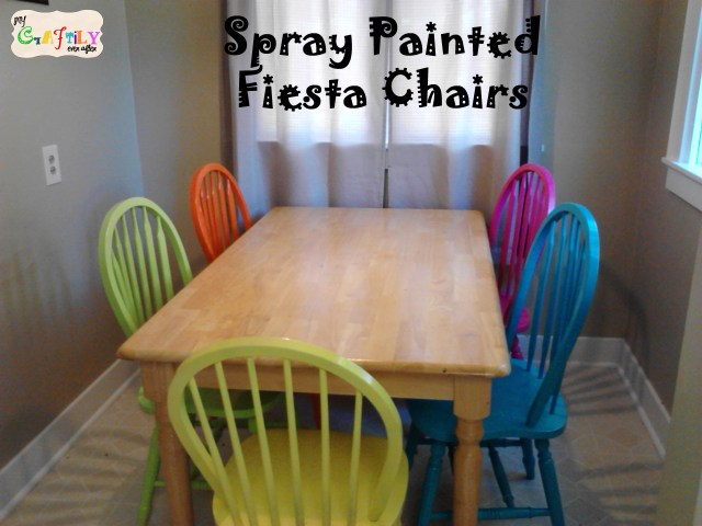 Spray Painted Fiesta Chairs For The Dining Room Table My Craftily Ever After