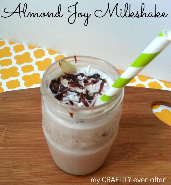 Almond Joy Milkshake - My Craftily Ever After