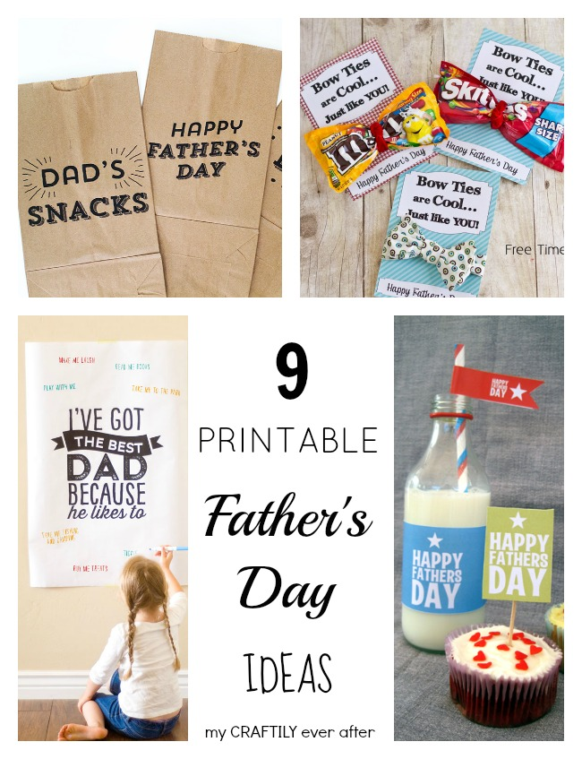 9 printable father's day ideas