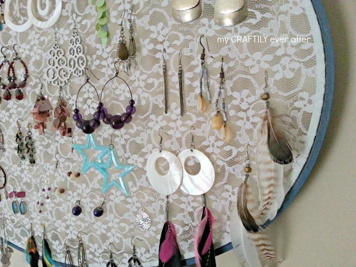 Lace Hoop Earring Display