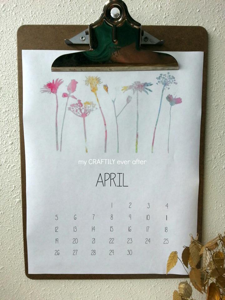 printable april calendar