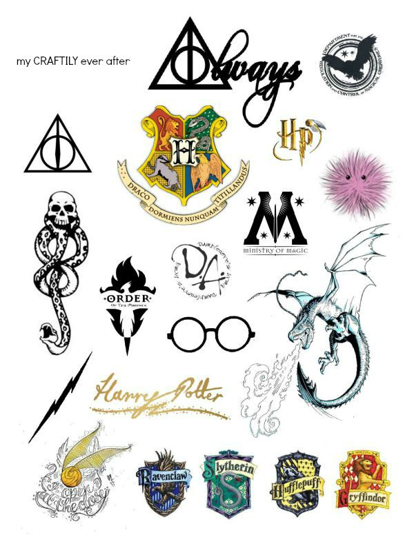 Harry Potter Temporary Tattoos - My Craftily Ever After