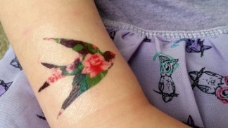 floral bird tattoos