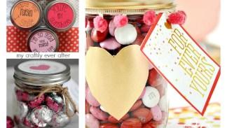 10 simple mason jar valentines
