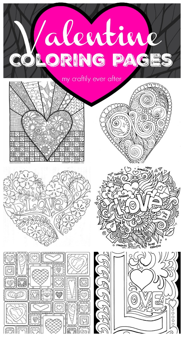 vintage valentine coloring pages - photo#22