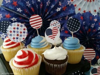 printable patriotic cupcakes