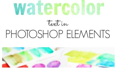 how to create watercolor text in photoshop elements