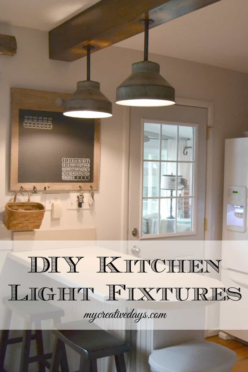 diy kitchen light fixtures part 2 kitchen light fixture Pin this DIY Kitchen Light Fixtures Part 2 mycreativedays com