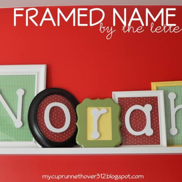 FRAMED NAME: BY THE LETTER
