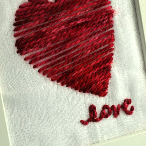 VALENTINE'S DAY YARN ART