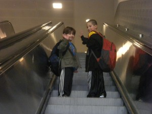 Boys Escalator