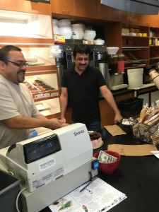 My boys at Lange's. That's Juan on the left and Sal on the right. They fight over who gets to make me my coffee. What can I say….