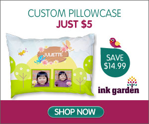 pillow InkGarden: Custom Pillowcase $5