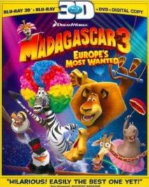 3d 238x300 Madagascar 3: Europe's Most Wanted 3D Blu ray Only $19.99 + FREE Shipping (Retail $54)
