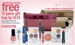 Screen Shot 2013 08 05 at 8.42.25 AM 300x179 Ulta: FREE 13 Piece Gift Bag Set with a $19.50 Ulta Brand Purchase ($88 Value)