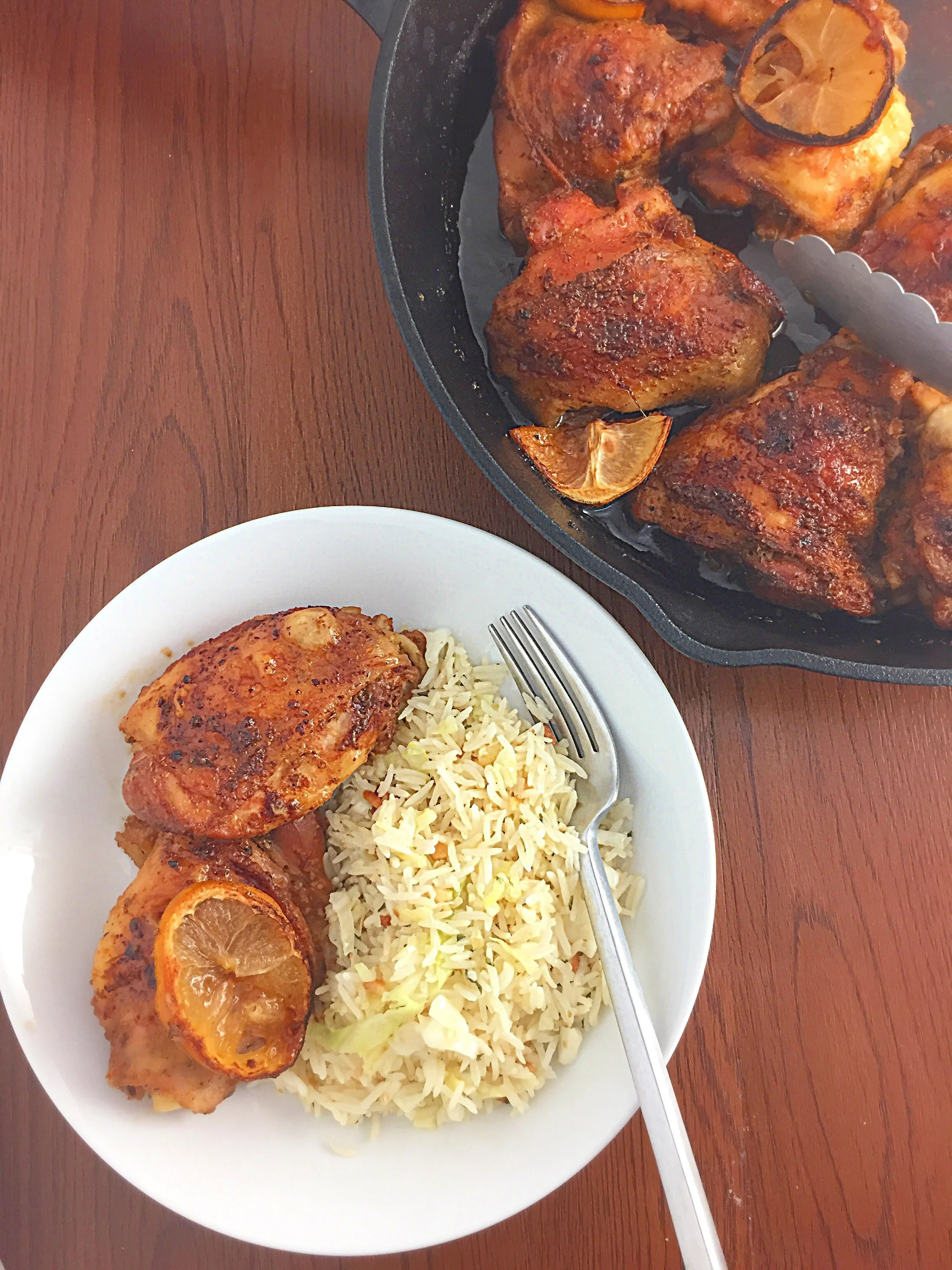 Lemon-Honey-Glazed Roast Chicken