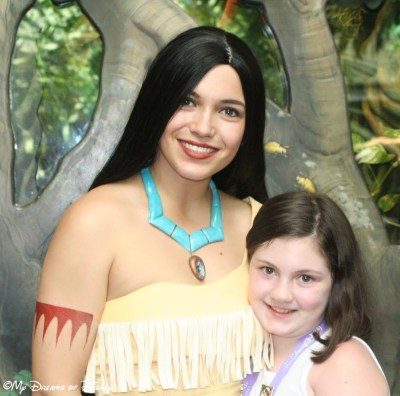 Pocahontas and Sophie at Rafiki's Planet Watch!