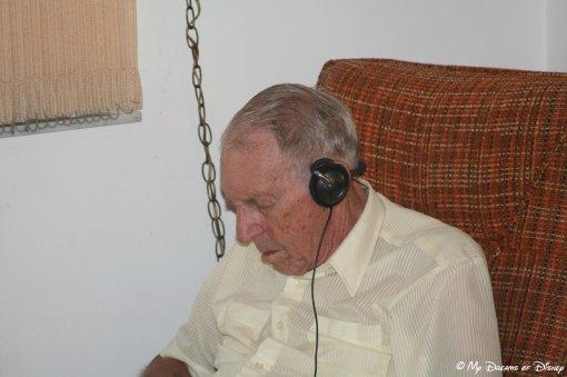 Grandpa enjoying one of HIS favorite past times -- taking a nap!