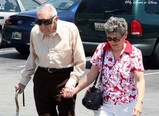 My Mom with her Daddy, after Grandma passed away in 2007.