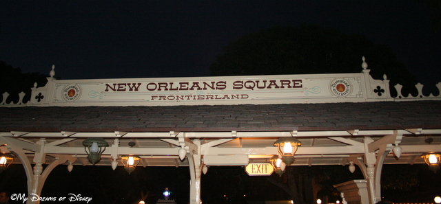 The Disneyland Railroad has a stop at New Orleans Square, and services Frontierland also from this stop.