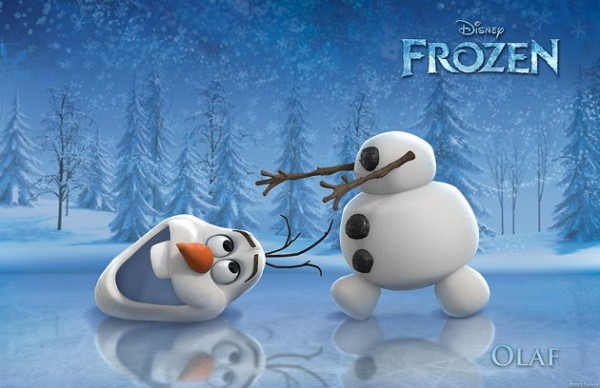 Olaf, the loveable snowman from Frozen!