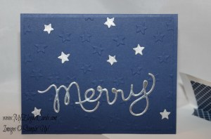 merry night of navy embossed stars