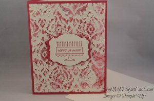 Stampin' Up! Beautifully Baroque embossing folder card