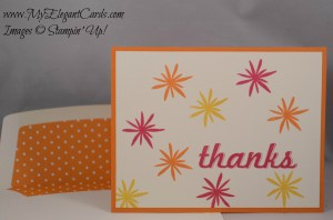 Stampin' Up Flower Patch in 3 bright colours
