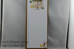 Stampin' Up! Perpetual Calendar - November