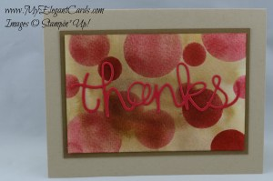 Stampin' Up Hello You on bokeh with a twist