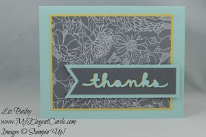 Stampin' Up! Thanks a latte and Greetings Thinlits