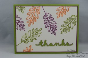 Stampin' Up! Lighthearted Leaves and Greetings Thinlits