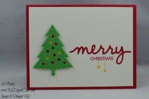 Stampin' Up! Holly Jolly Greetings and Peaceful Pines and Christmas Greetings Thinlits
