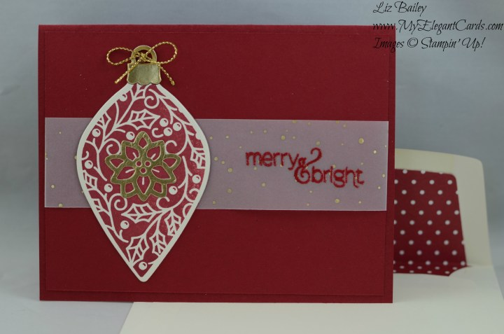 Stampin' Up! Embellished Ornaments and Paper Pumpkin November 2015 Mistletoe and Holly