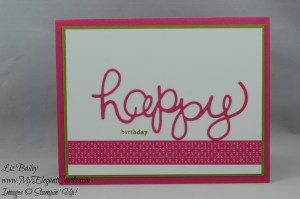 Stampin' Up! Hello You thinlits and Endless Birthday wishes